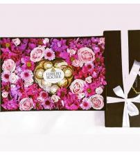 Magenta Flower Box with Chocolate