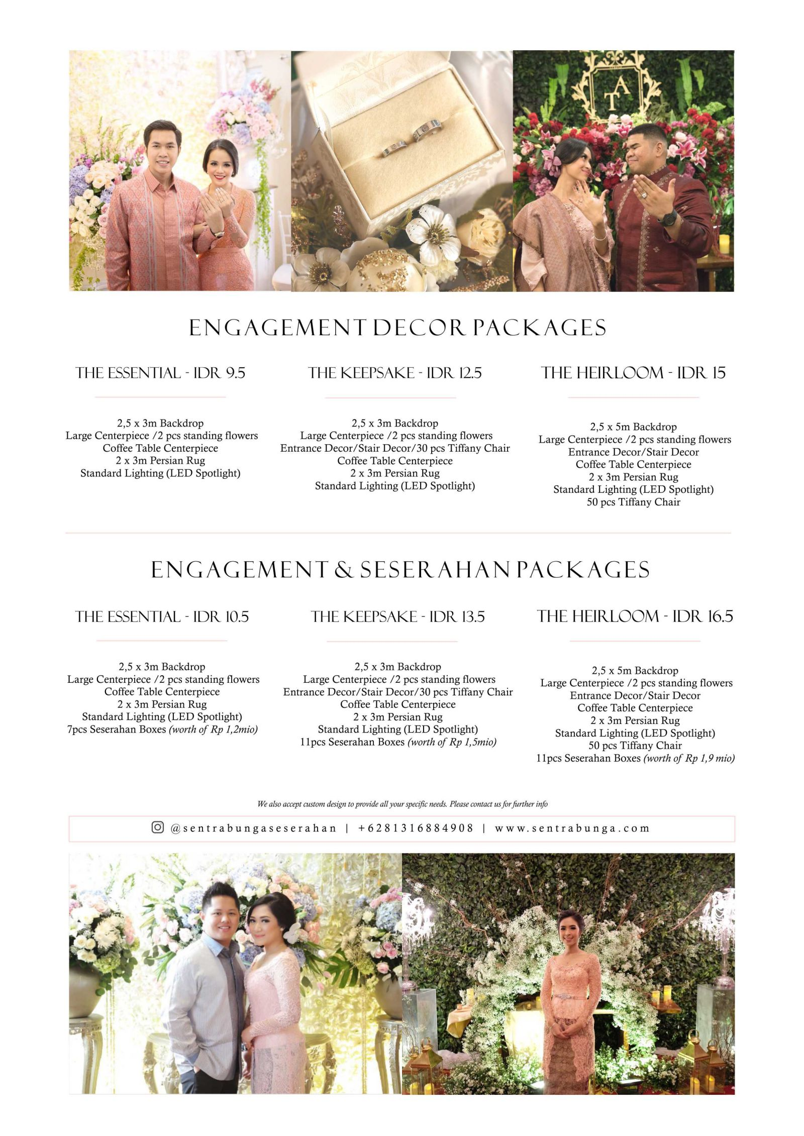 Engagement Decor Package L Sentrabunga Com