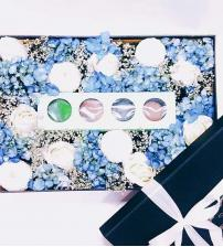 Blue Macaroon Flower Box