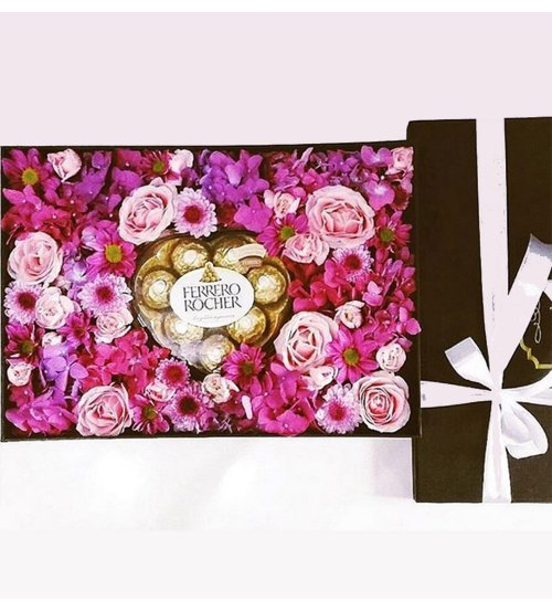 VAL Chocolate and Flower Box