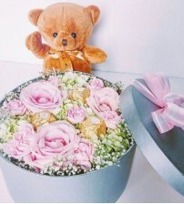 Petite Bloom Box with Teddy
