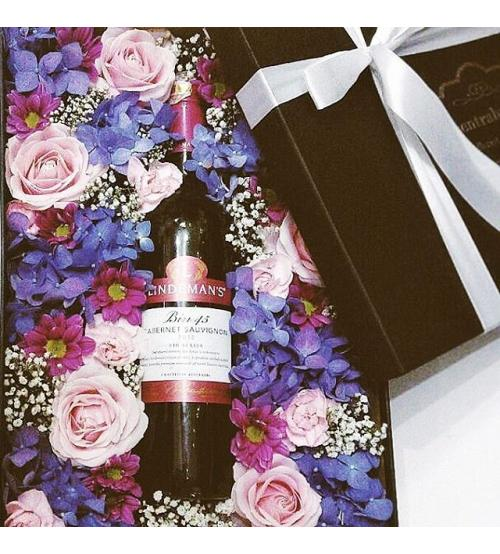 Wine and Flower Box